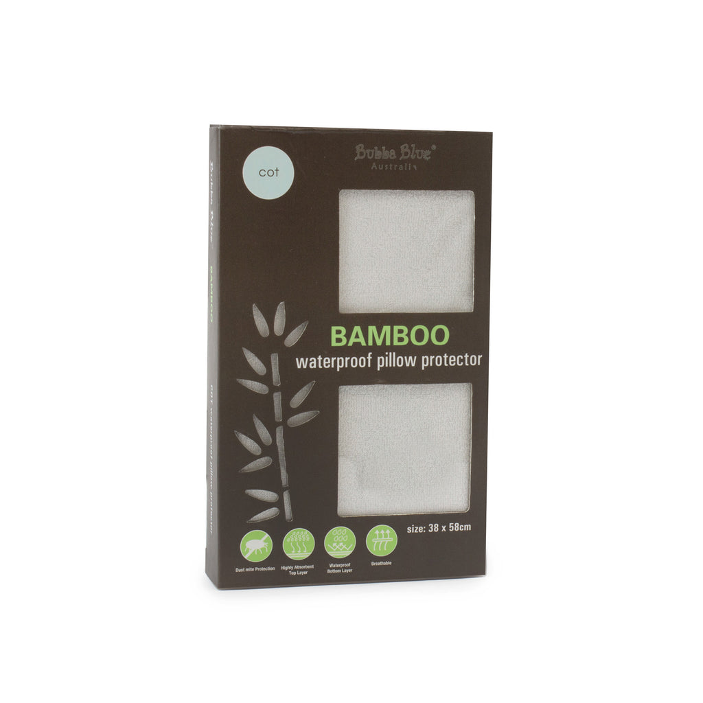 Bamboo White Cot Pillow Protector