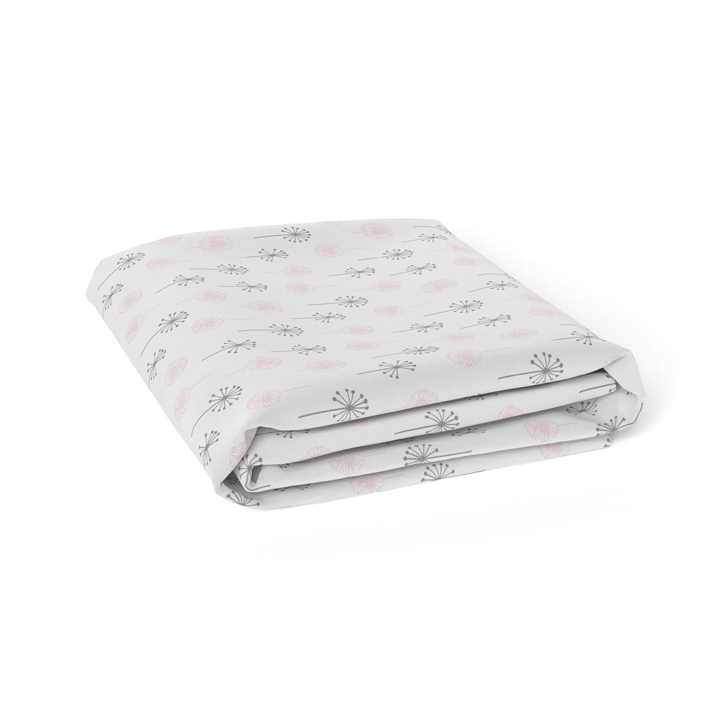 Pink Bloom Bamboo Jersey Bassinet Fitted Sheet - Bubba Blue Australia