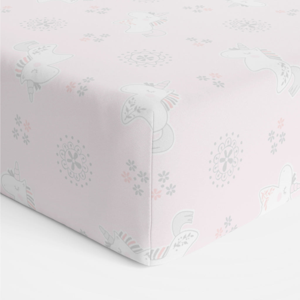 Unicorn Magic Cot Fitted Sheet - Bubba Blue Australia