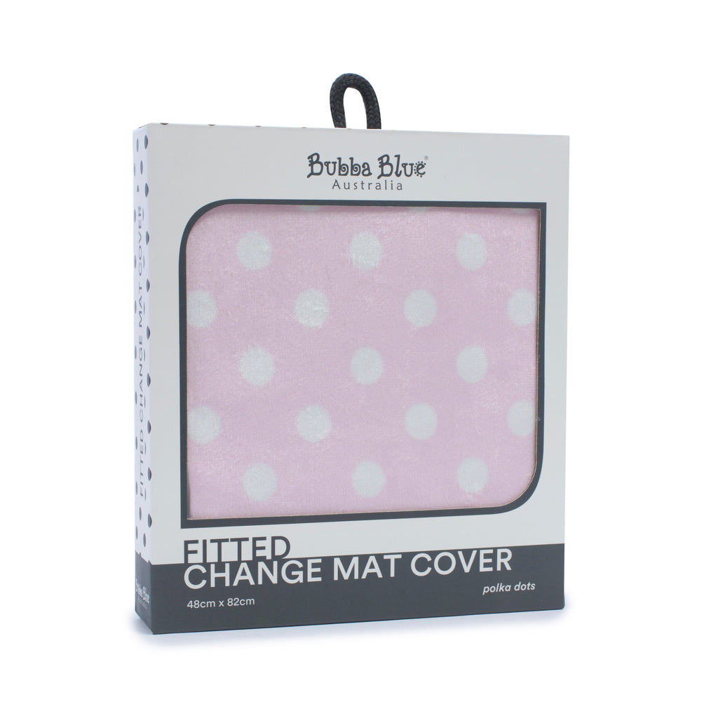 Pink Polka Dots Change Mat Cover - Bubba Blue Australia