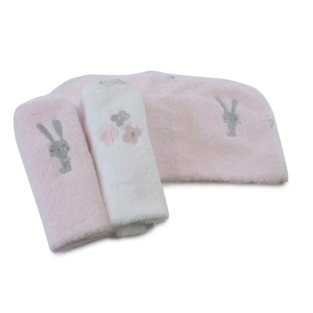 Bunny Hop 3 Pack Face Washers - Bubba Blue Australia