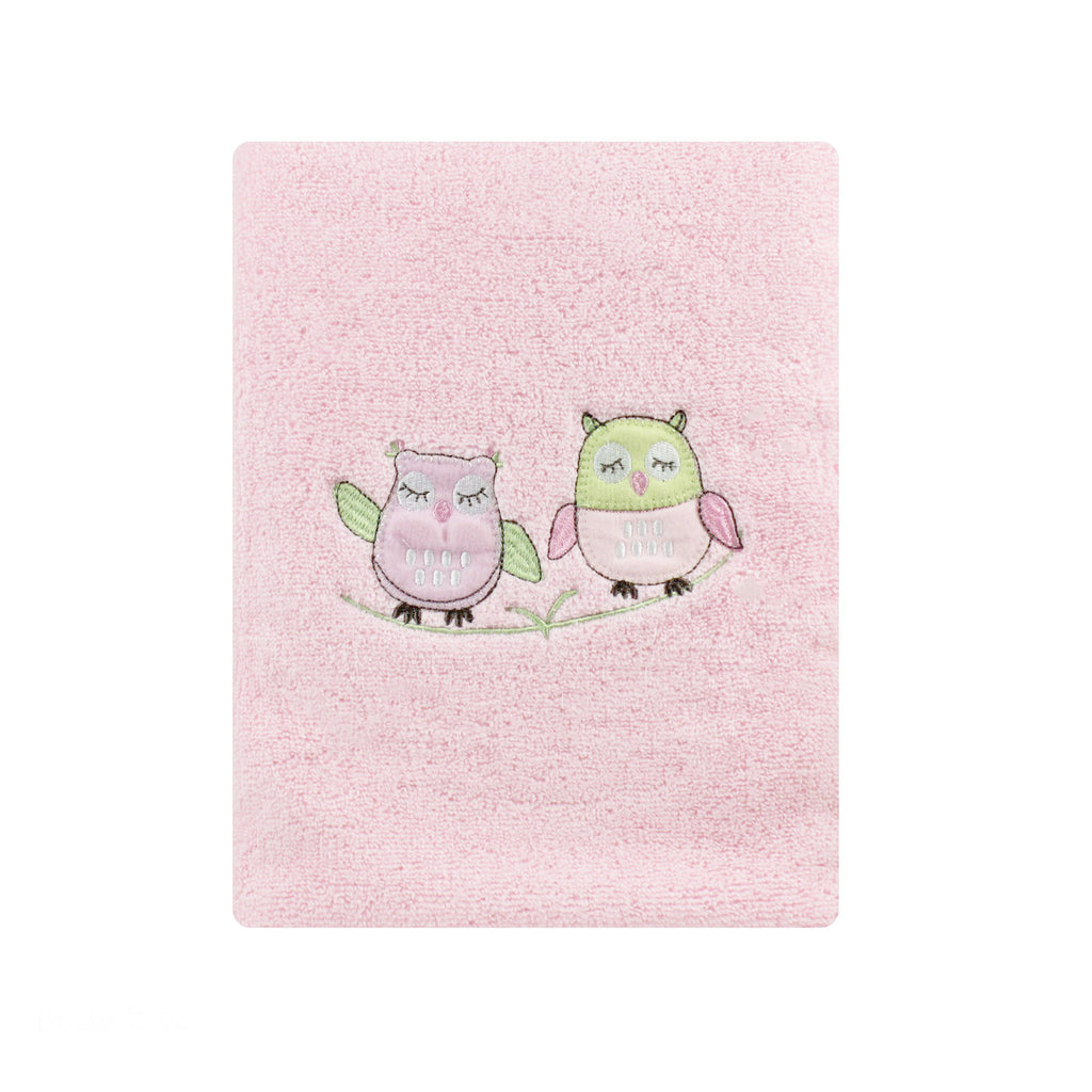 Girl Baby Owl Bath Towel - Bubba Blue Australia
