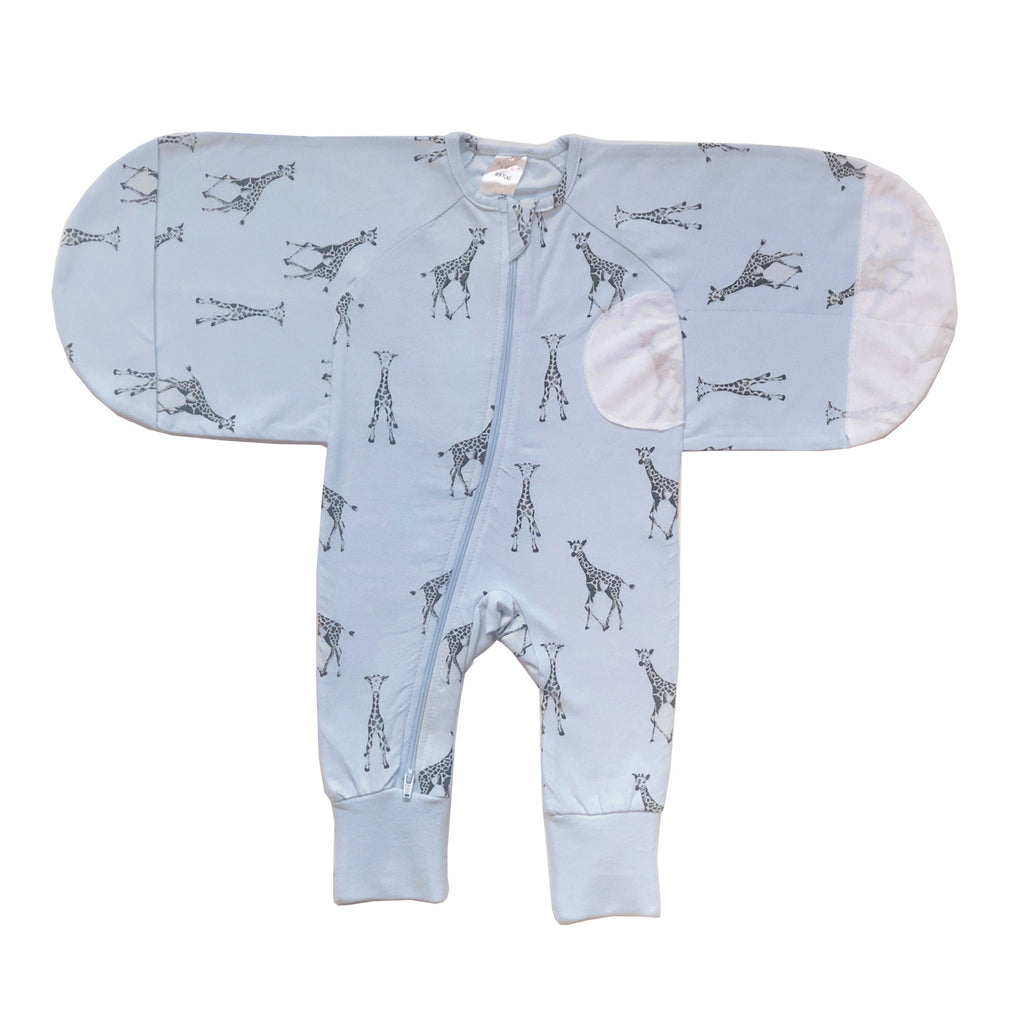 Buy One Get One Free Plum 0.5 TOG Swaddle Suit - Bubba Blue Australia