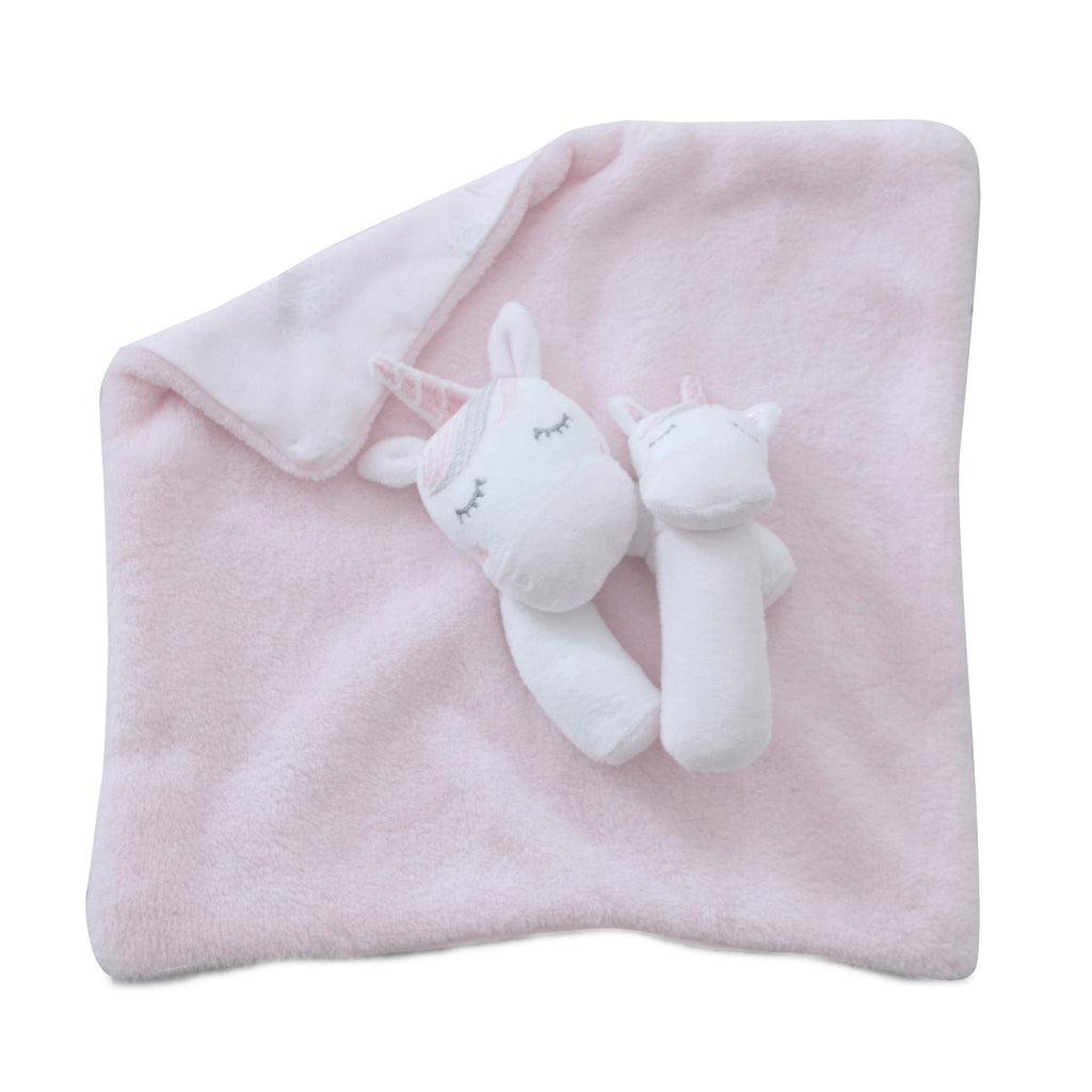 12 UNICORN MAGICSECURITY BLANKET & RATTL