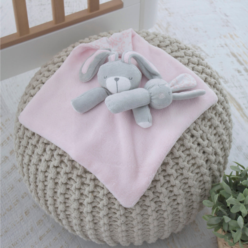 12 BUNNY HOP SECURITY BLANKET & RATTLE S