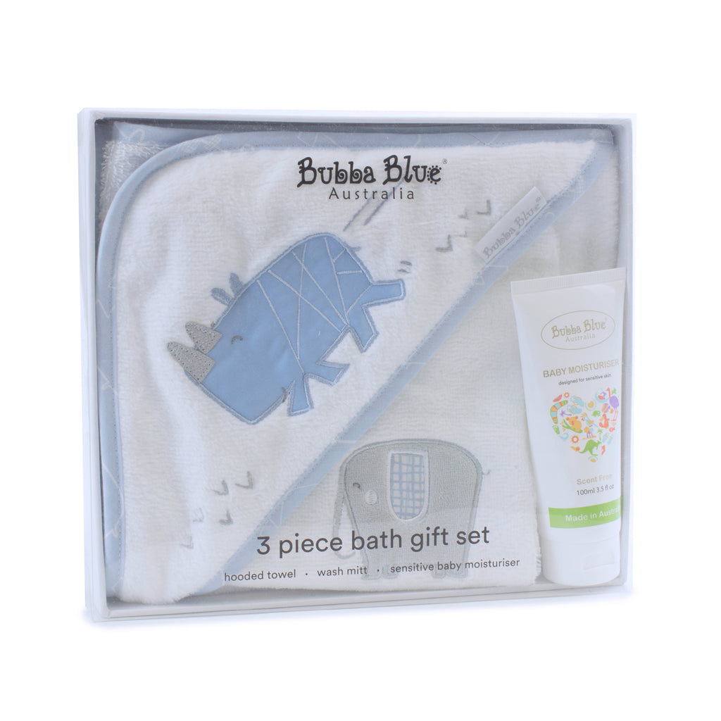 Rhino Run 3 Piece Bath Gift Set - Bubba Blue Australia