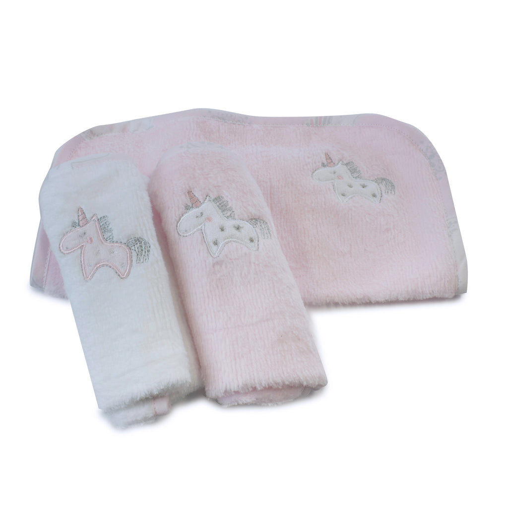Unicorn Magic 3 Pack Face Washers - Bubba Blue Australia