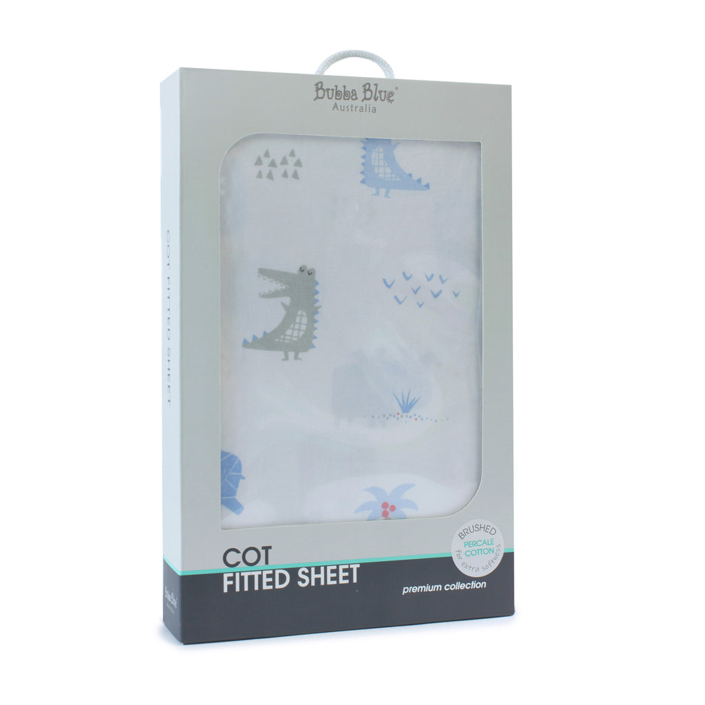 Rhino Run Cot Fitted Sheet - Bubba Blue Australia