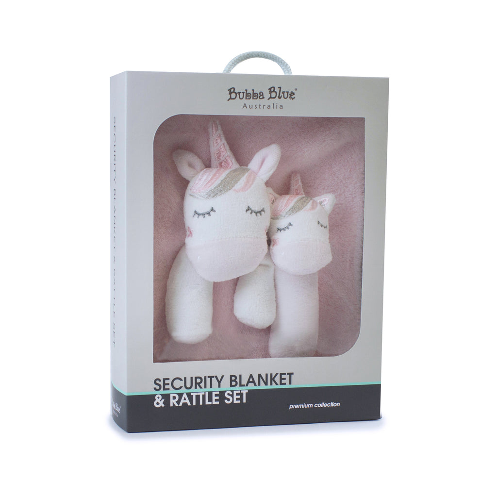 12 Unicorn Magic security blanket and ra