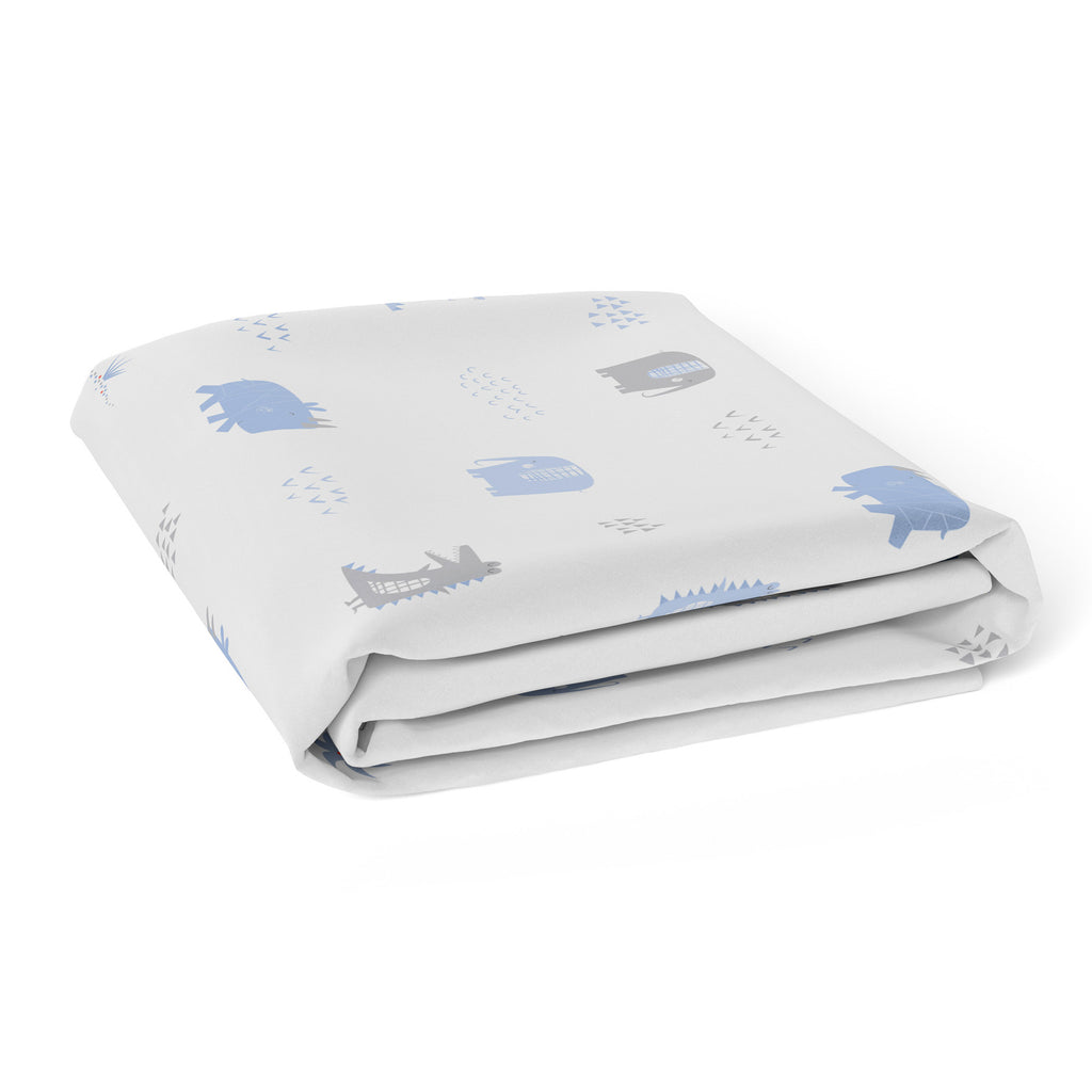 Rhino Run Bassinet Jersey Fitted Sheet - Bubba Blue Australia