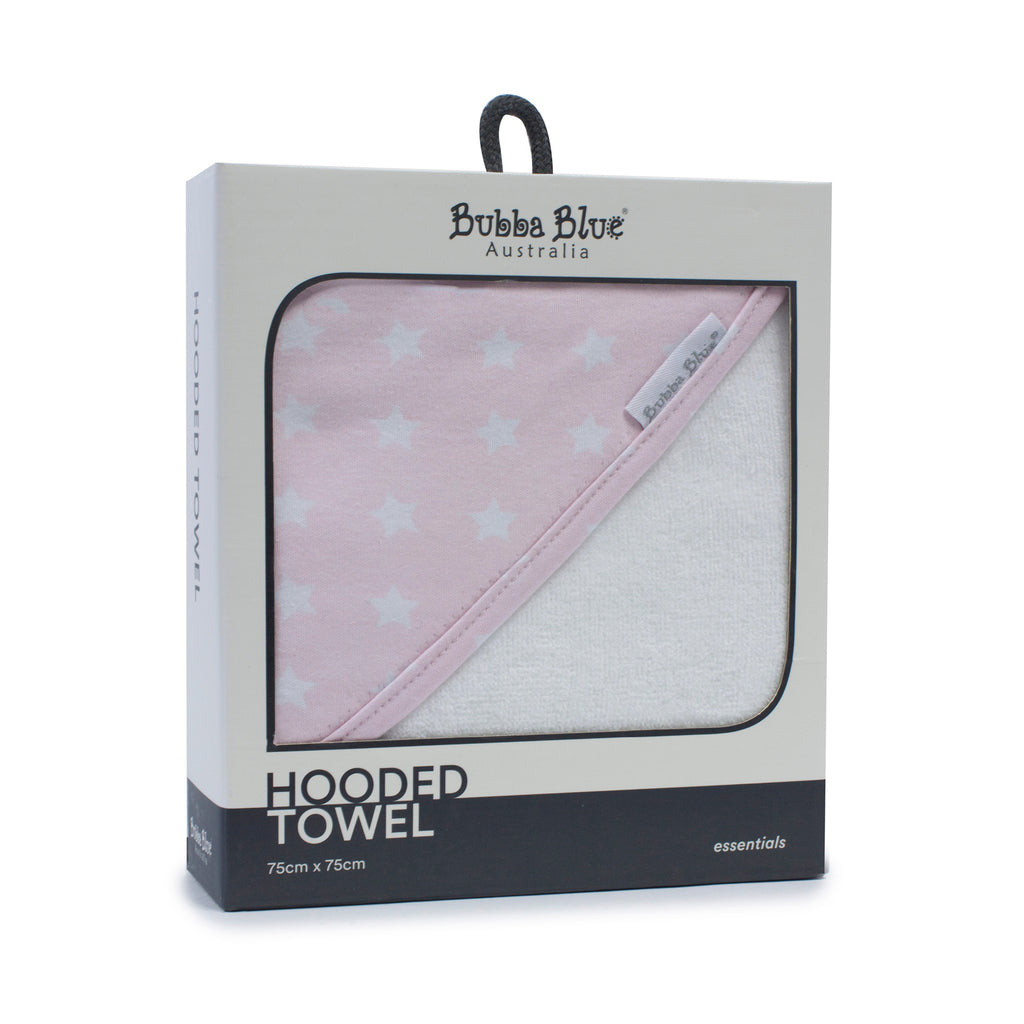 Everyday Essentials Hooded Towel - Pink - Bubba Blue Australia