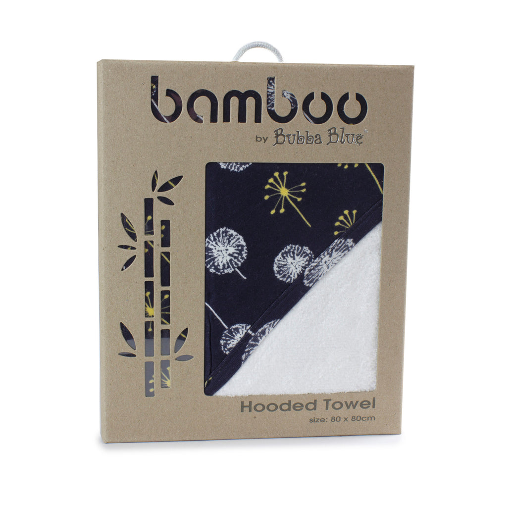 Night Sky Bamboo Hooded Towel - Bubba Blue Australia