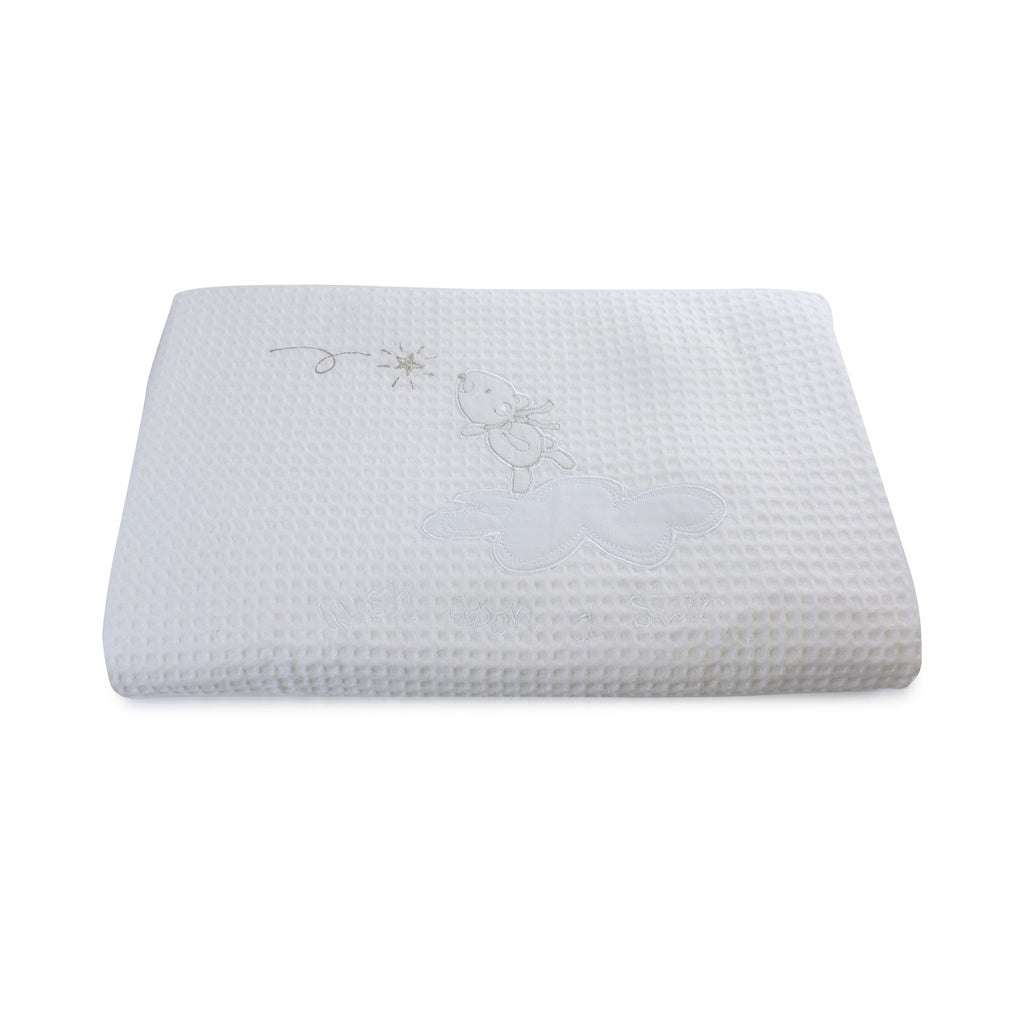 Wish Upon A Star Cot Waffle Blanket - Bubba Blue Australia