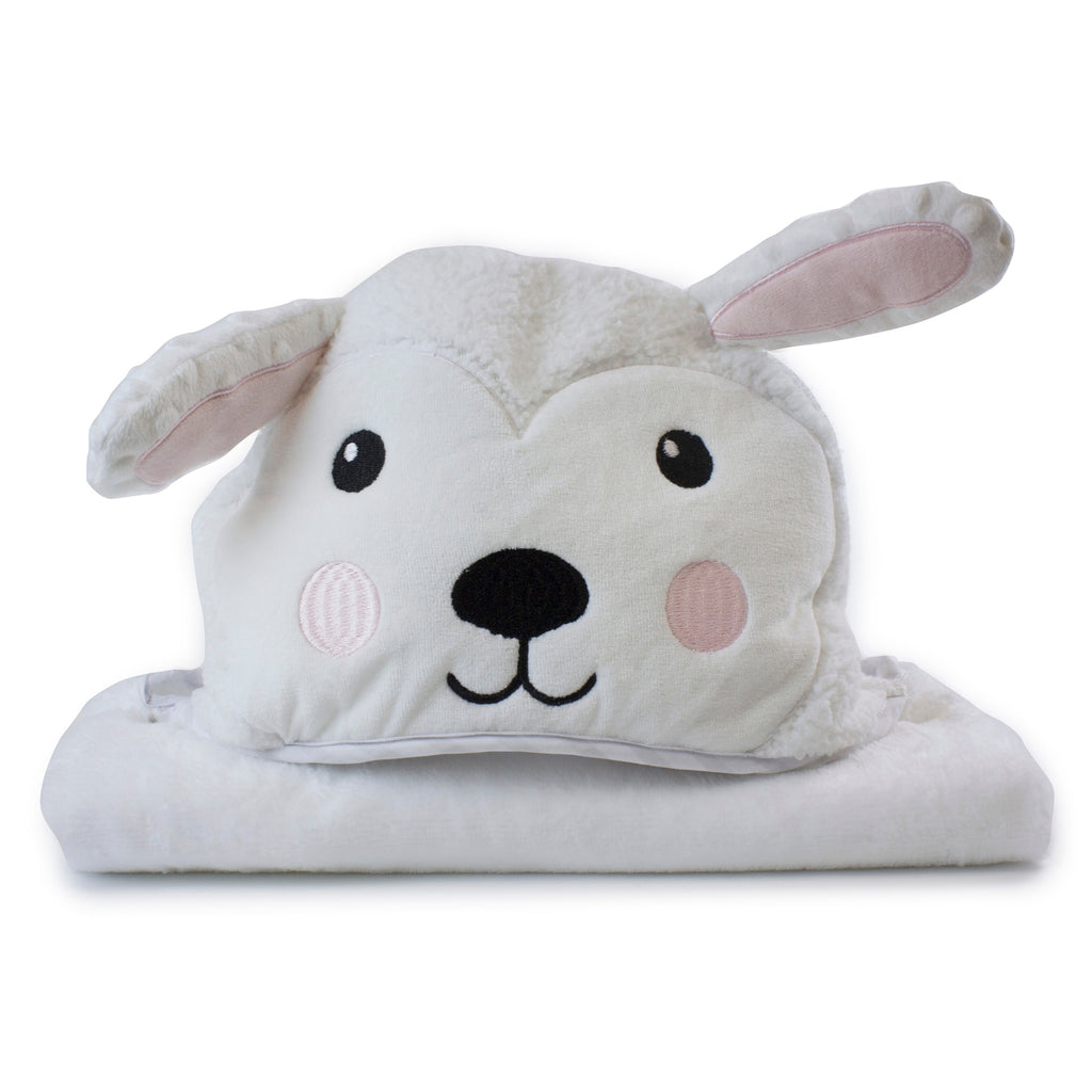 Aussie Animals 'Sheep' Novelty Hooded Bath Towel - Bubba Blue Australia