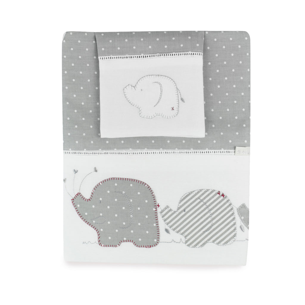 Petit Elephant Bassinet / Cradle Sheet Set