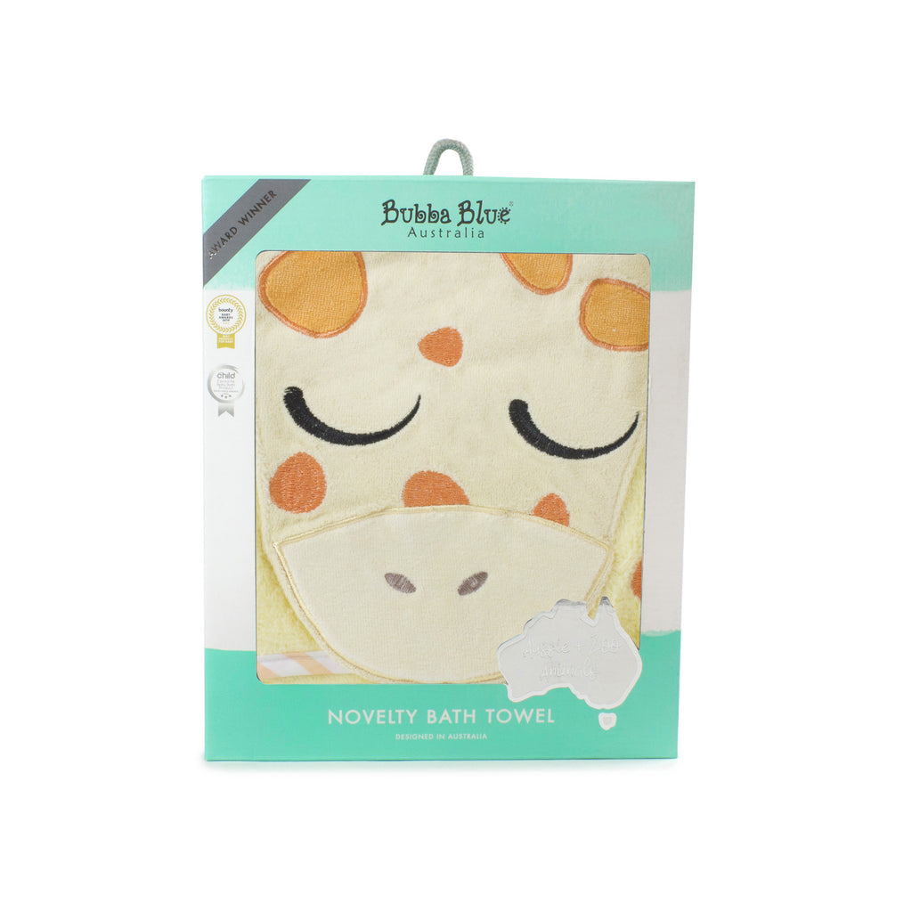 Zoo Animals 'Giraffe' Novelty Hooded Bath Towel