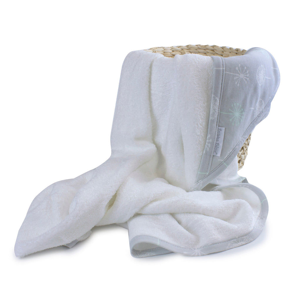 Mint Meadow Bamboo Hooded Towel - Bubba Blue Australia