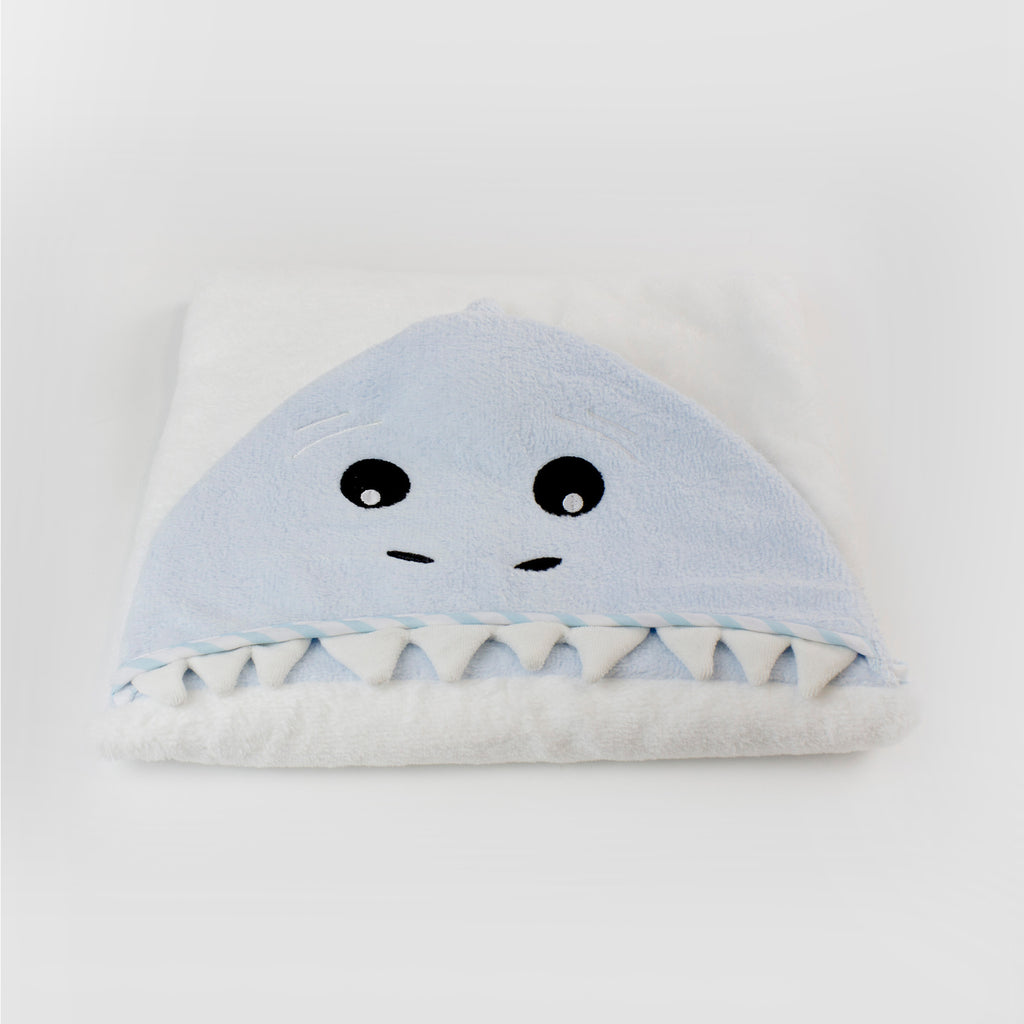 Aussie Animals 'Shark' Novelty Hooded Bath Towel - Bubba Blue Australia