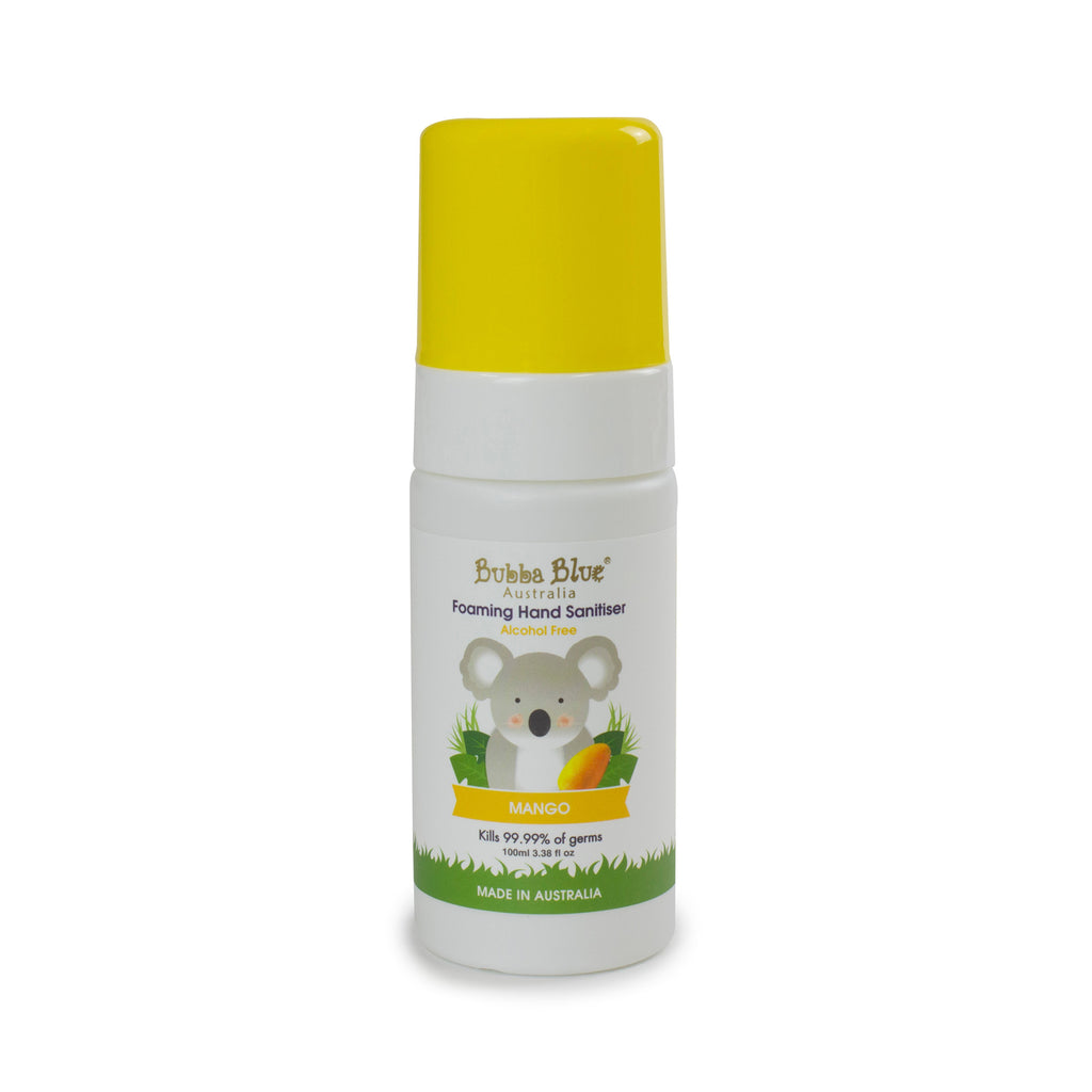 Alcohol Free Mango Hand Sanitiser 100ml - Bubba Blue Australia