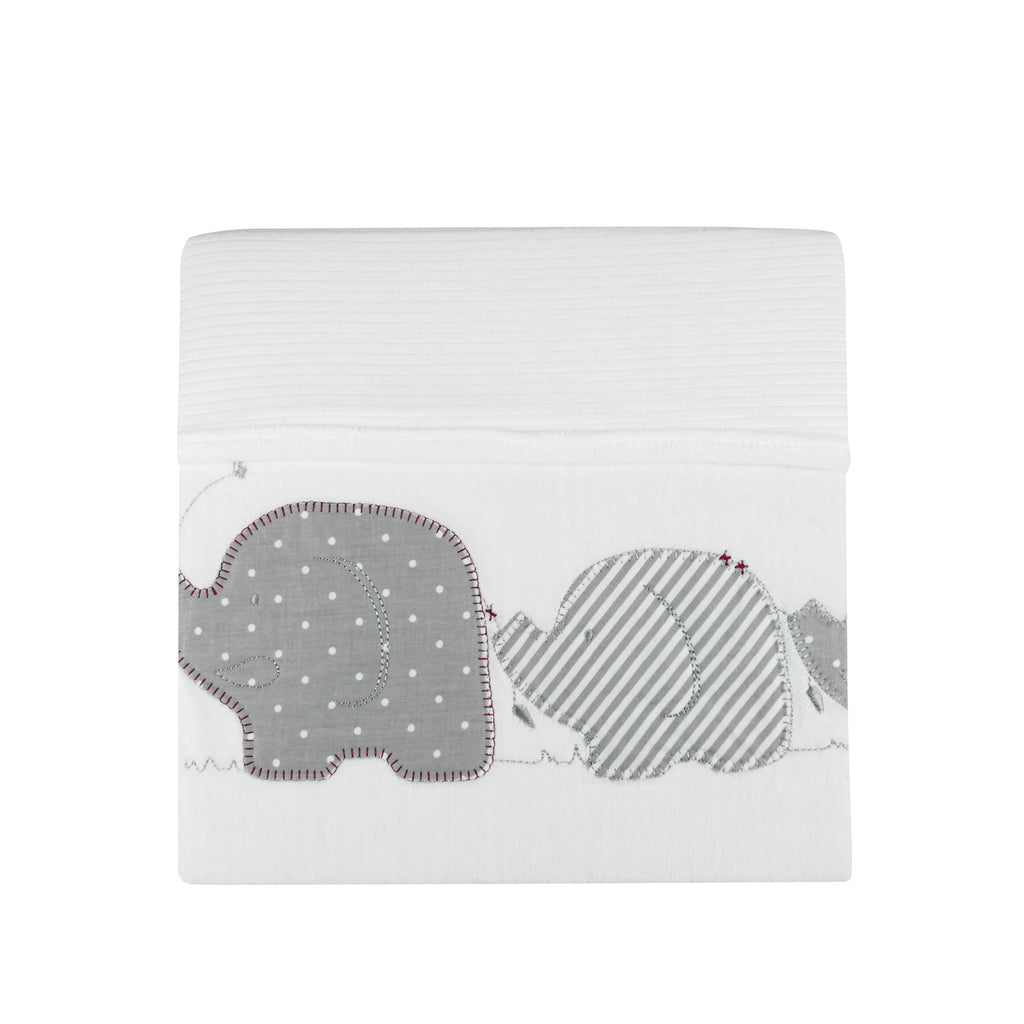 Petit Elephant Bassinet Cotton Velour Cuddle Blanket - Bubba Blue Australia