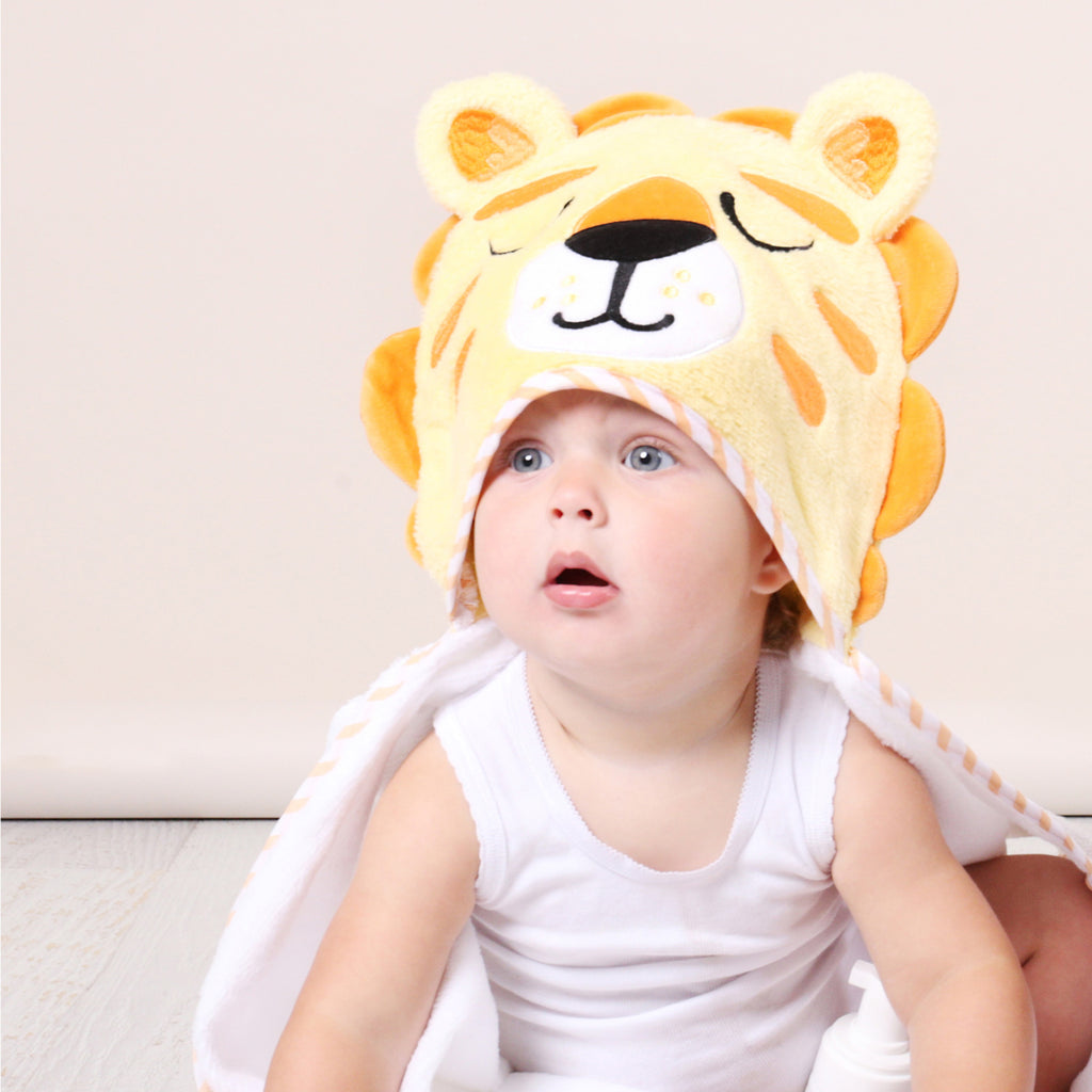 Zoo Animals 'Lion' Novelty Hooded Bath Towel - Bubba Blue Australia
