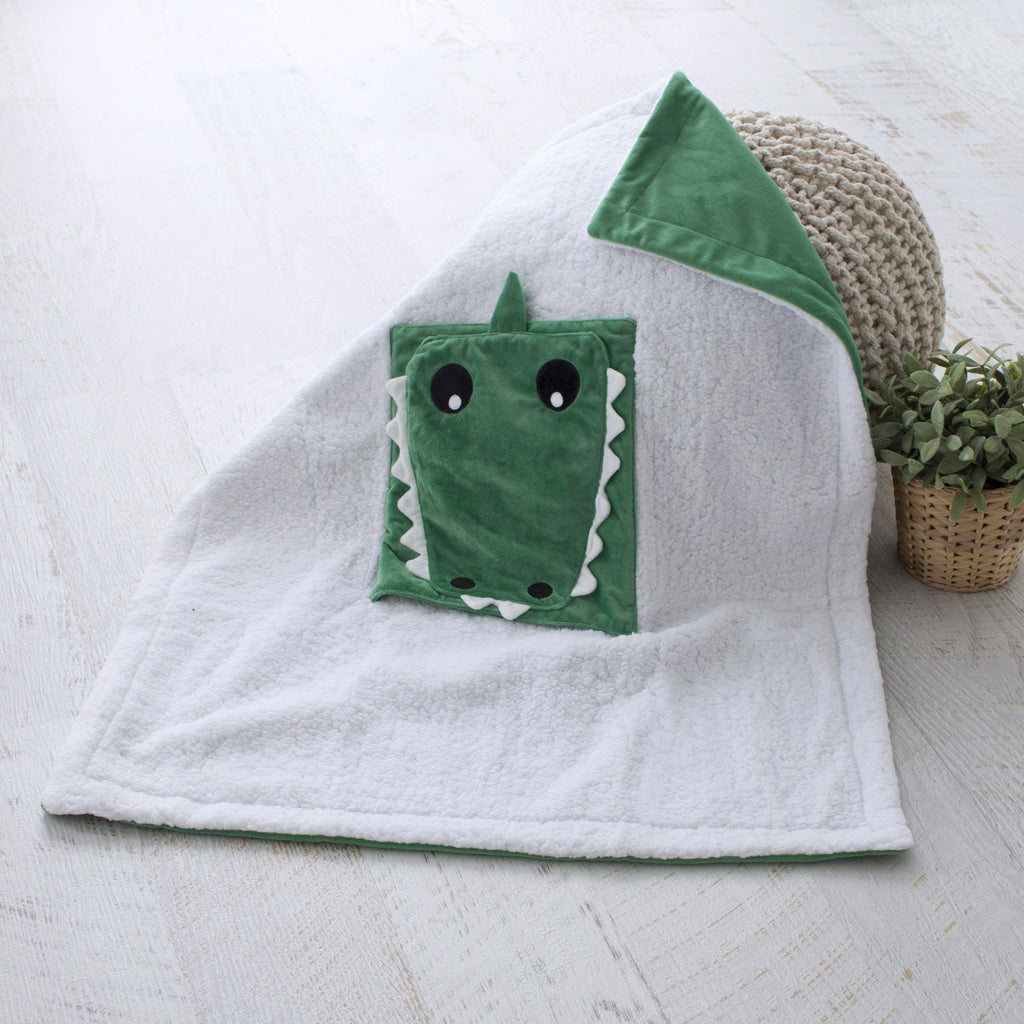 Aussie Animals Crocodile Novelty Blankie