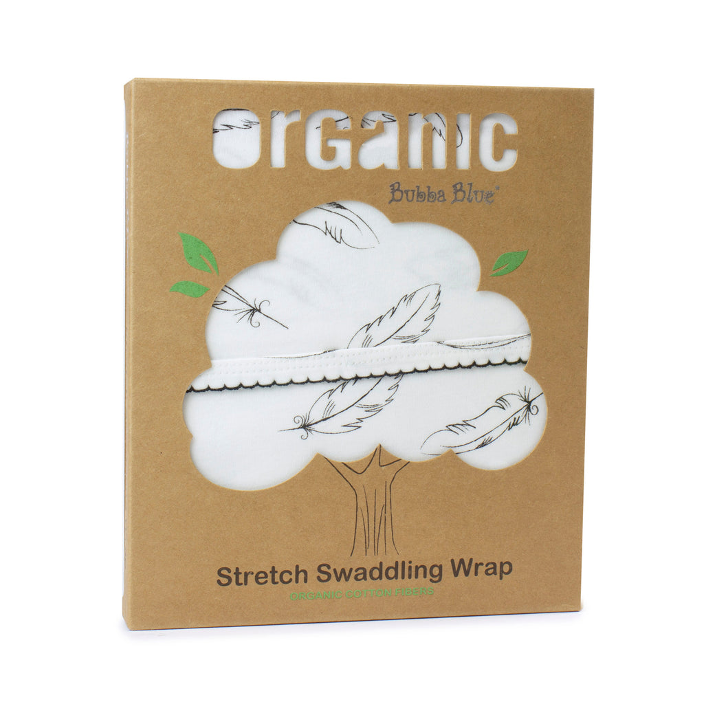 Buy One Get One Free Organic Feathers Cotton Stretch Swaddling Wrap (single pack) - Bubba Blue Australia