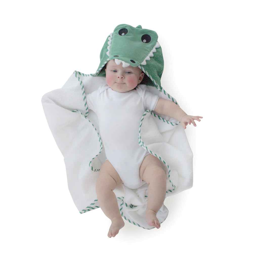 Aussie Animals 'Crocodile' Novelty Hooded Bath Towel - Bubba Blue Australia