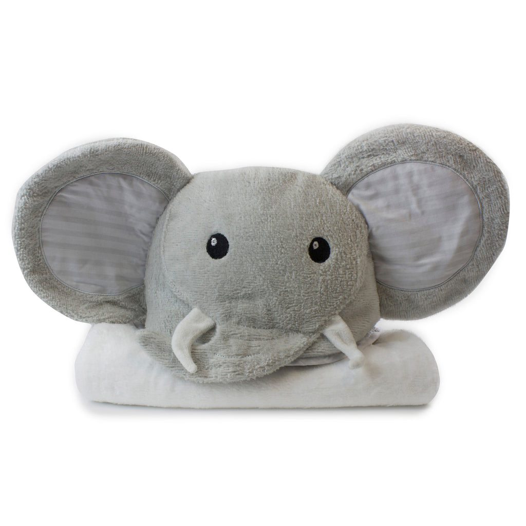 Zoo Animals 'Elephant' Novelty Hooded Bath Towel - Bubba Blue Australia