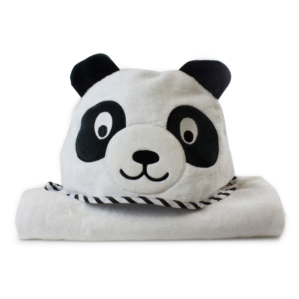 Zoo Animals 'Panda' Novelty Hooded Bath Towel - Bubba Blue Australia