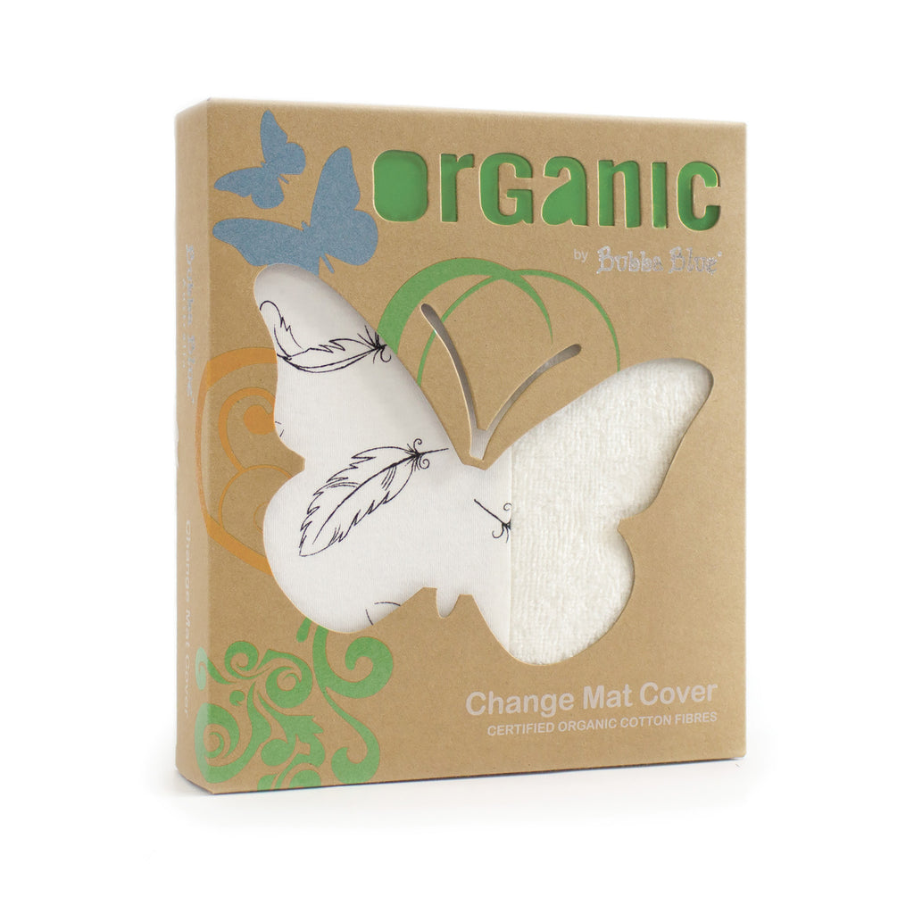 Organic Feathers Cotton Change Mat Cover - Bubba Blue Australia