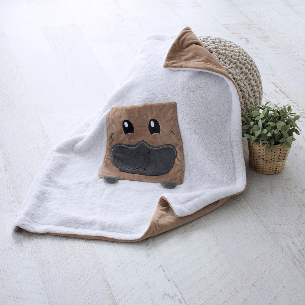 Aussie Animals Platypus Novelty Blankie