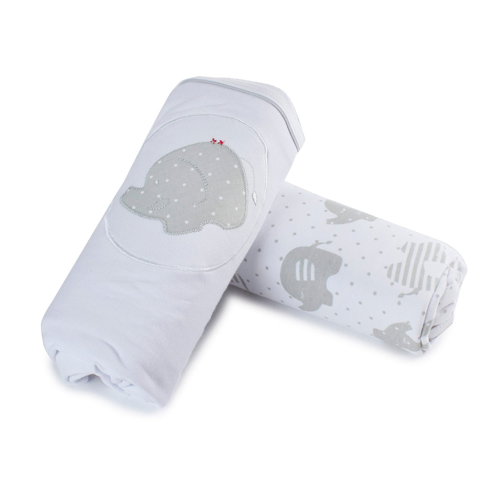 Petit Elephant 2pk Stretch Swaddle Wraps - Bubba Blue Australia