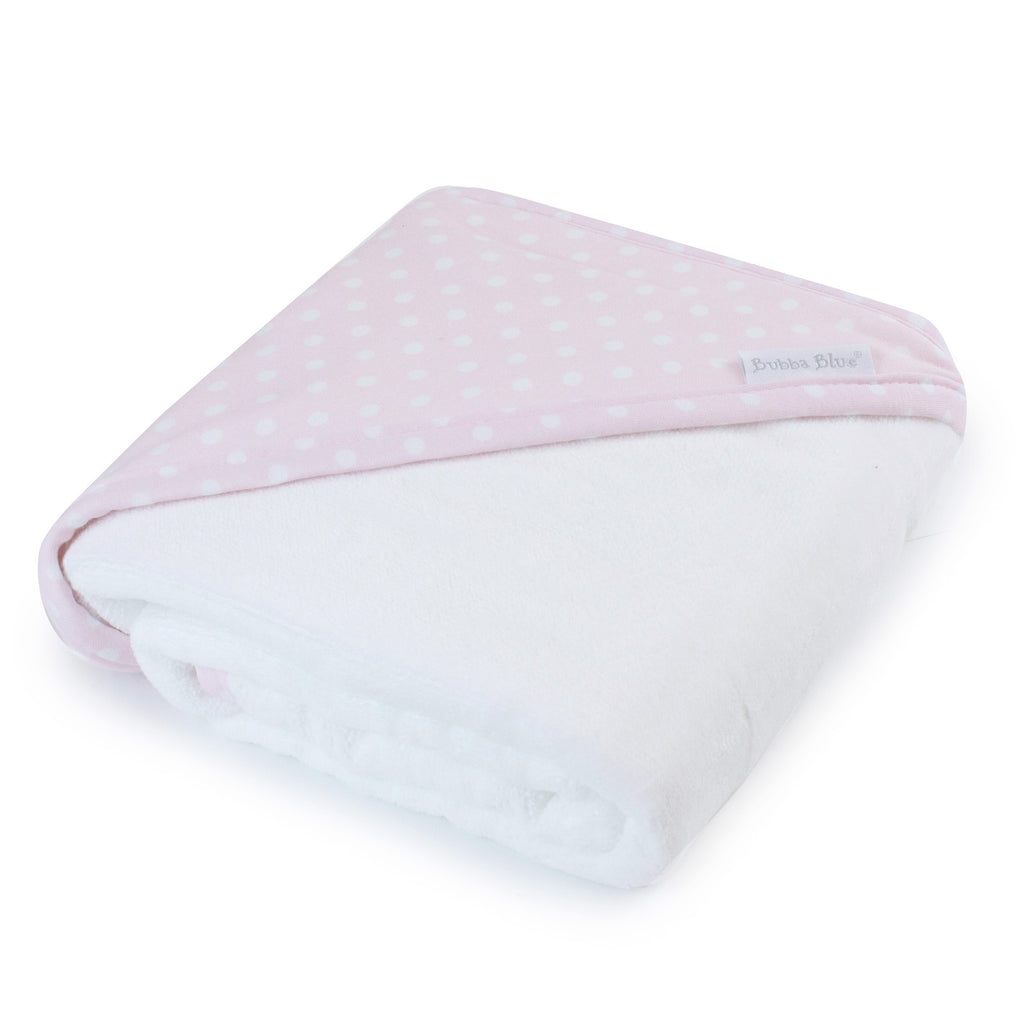 Pink Polka Dots Hooded Towel - Bubba Blue Australia