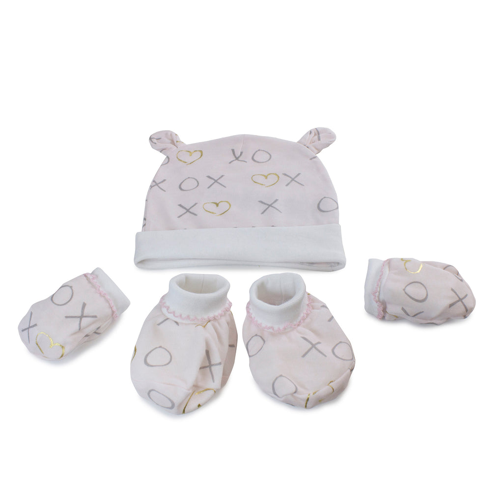 Pink Bloom Bamboo 3pcs Newborn Layette Gift Set - Bubba Blue Australia