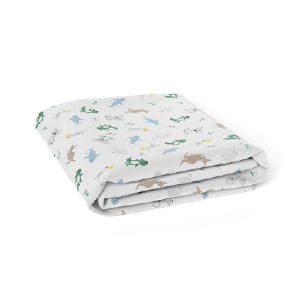Aussie Animals Jersey Bassinet Fitted Sheet