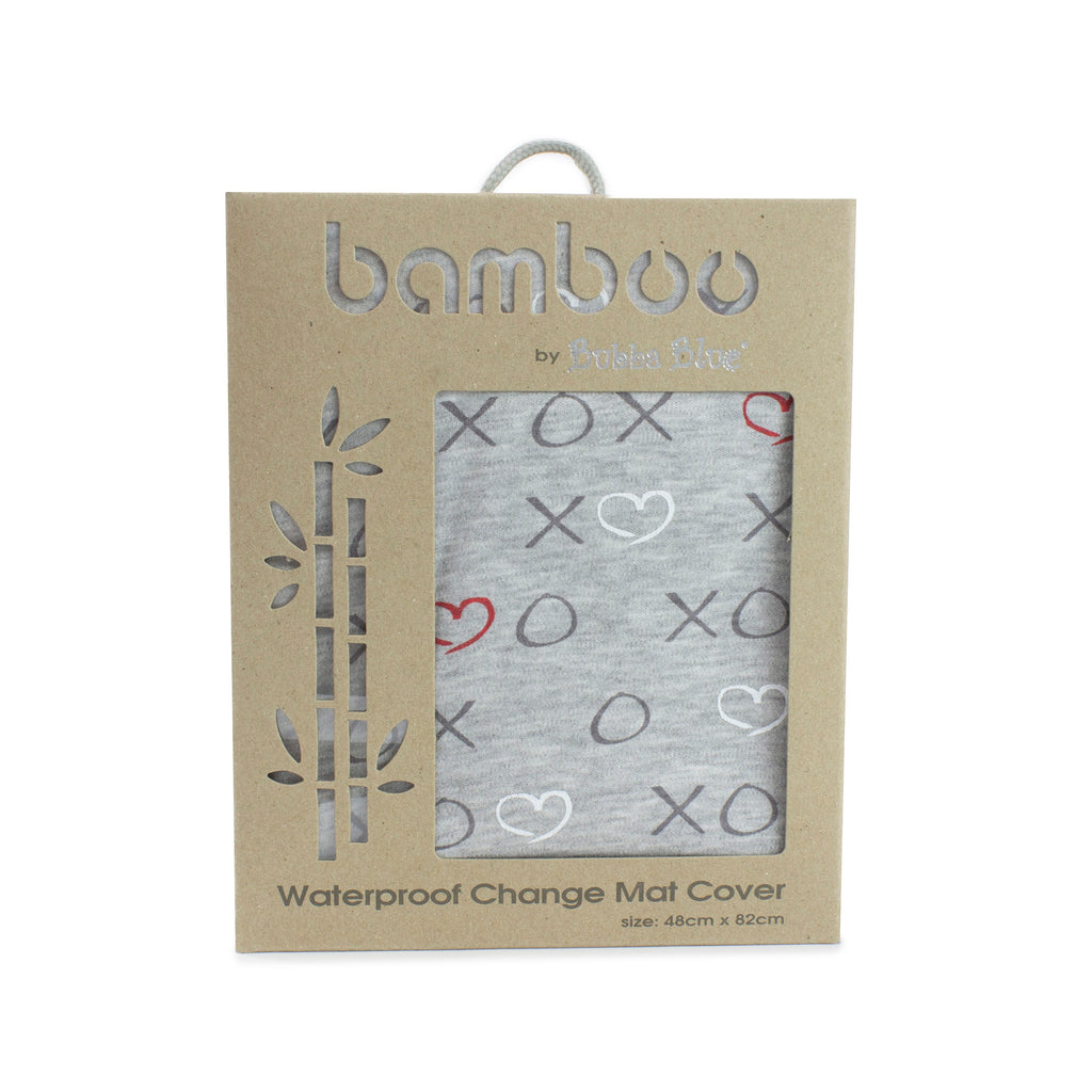 Silver Mist Bamboo Jersey Waterproof Change Mat Cover