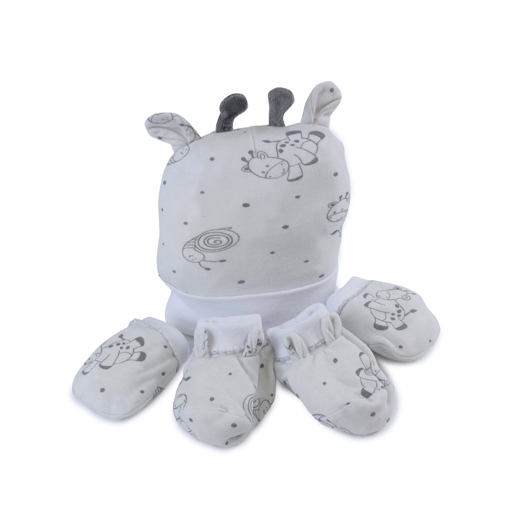 Grey Playtime 3pcs Newborn Layette Gift Set