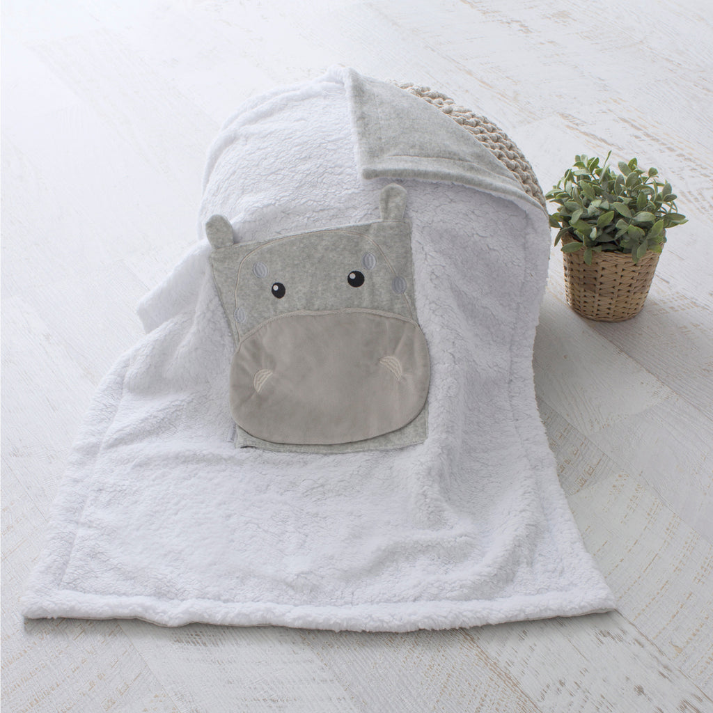 Zoo Animals Hippo Novelty Blankie - Bubba Blue Australia