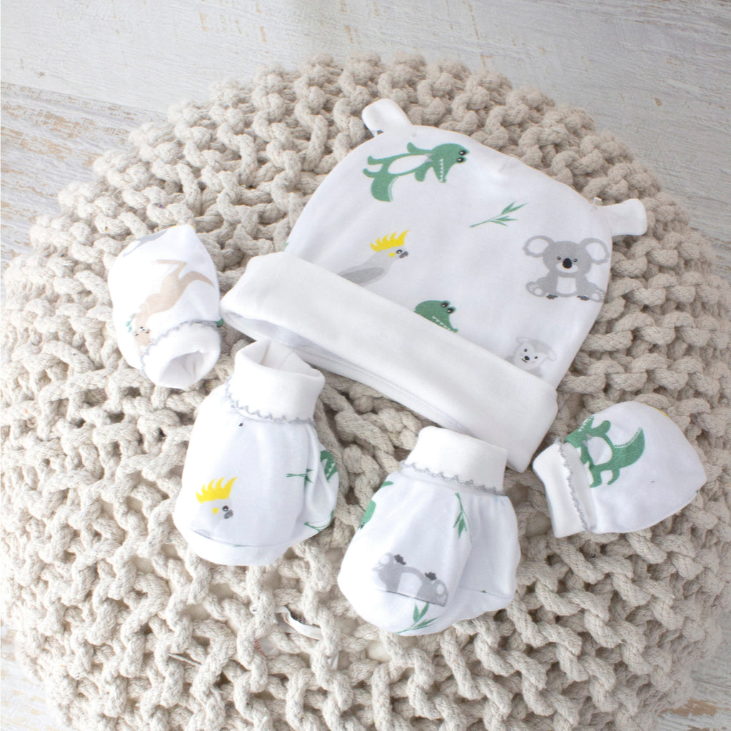 Aussie Animals 3pcs Newborn Layette Set