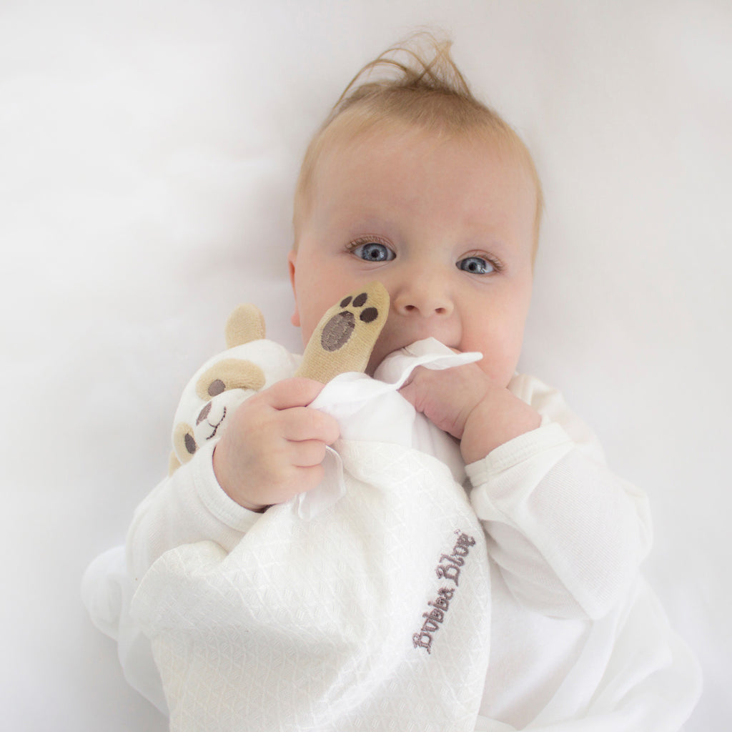 Bamboo White Security Blanket (bear)