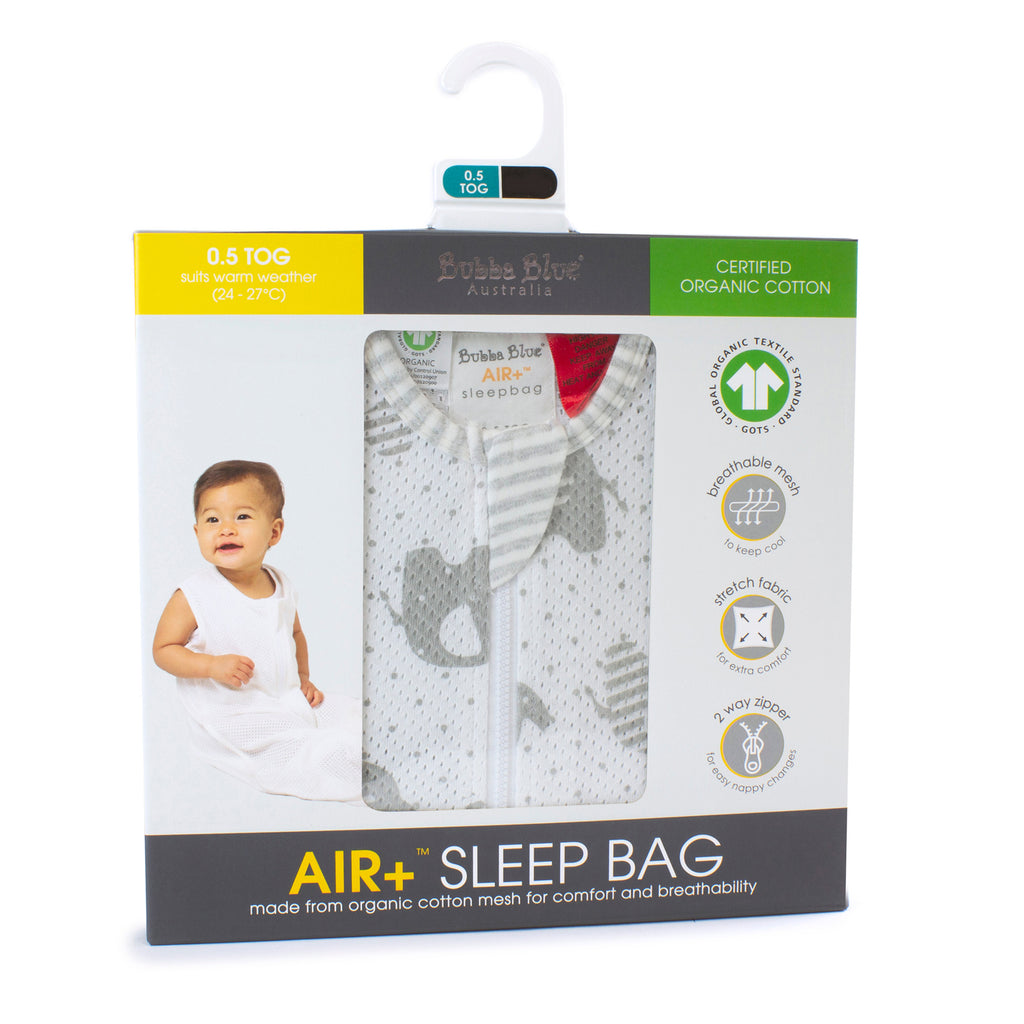 Air+ Sleep Bag Petit Elephant - Bubba Blue Australia
