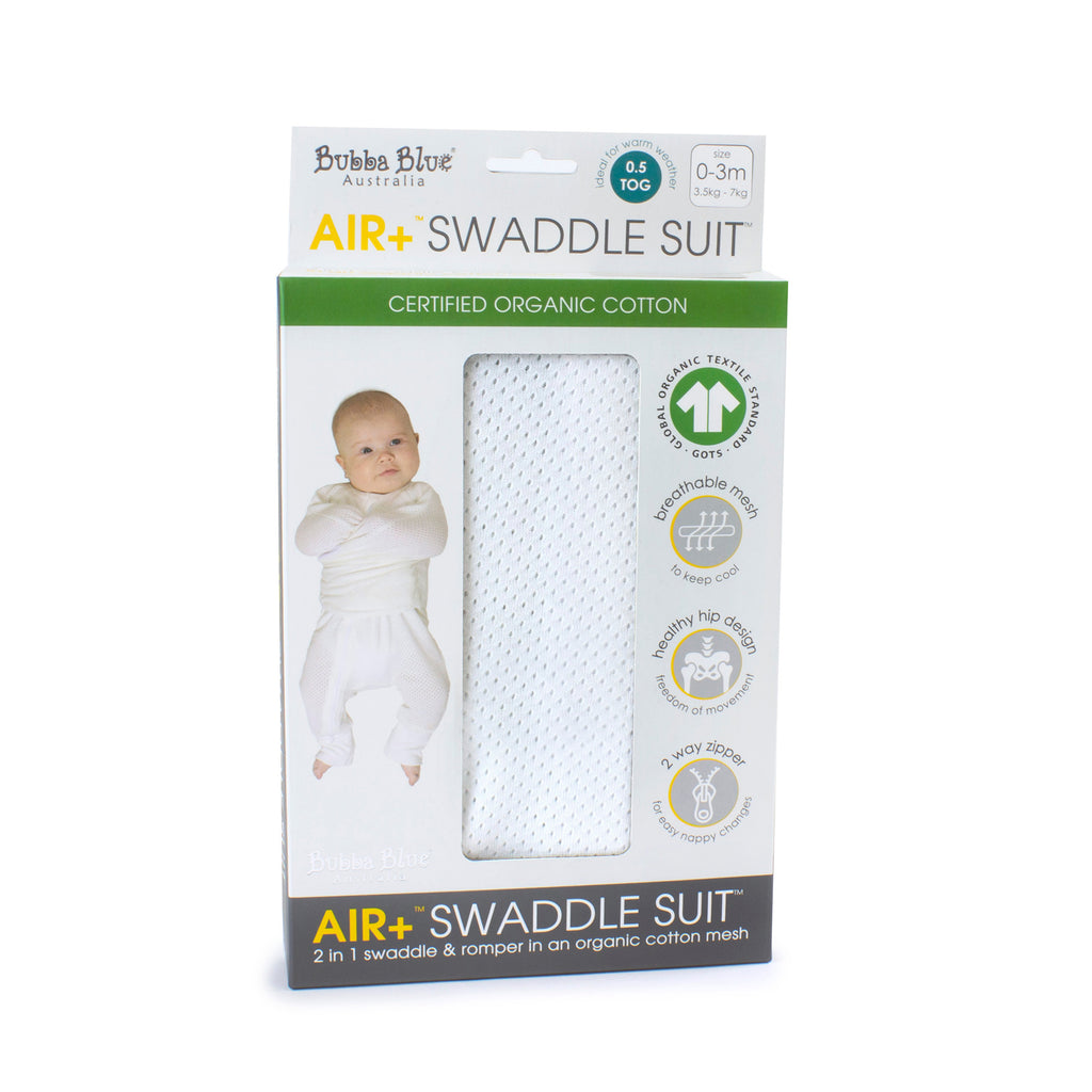 Air+ Swaddle Suit White