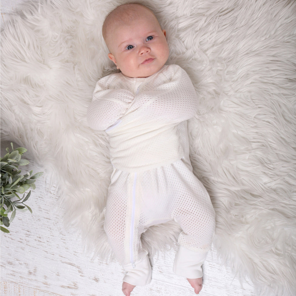 Buy One Get One Free Air+ Swaddle Suit White - Bubba Blue Australia