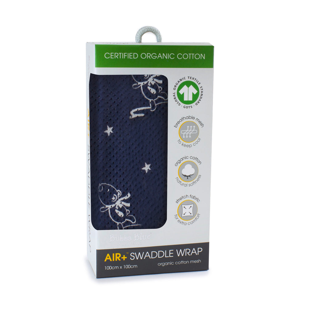 Air+ Swaddle Wrap Wish Upon A Star - Bubba Blue Australia