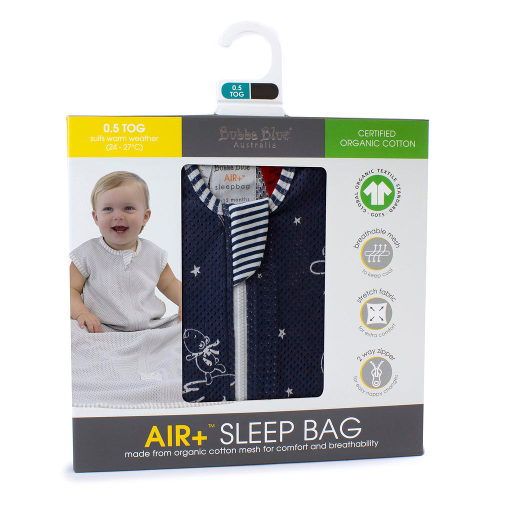 Buy One Get One Free Air+ Sleep Bag Wish Upon A Star - Bubba Blue Australia