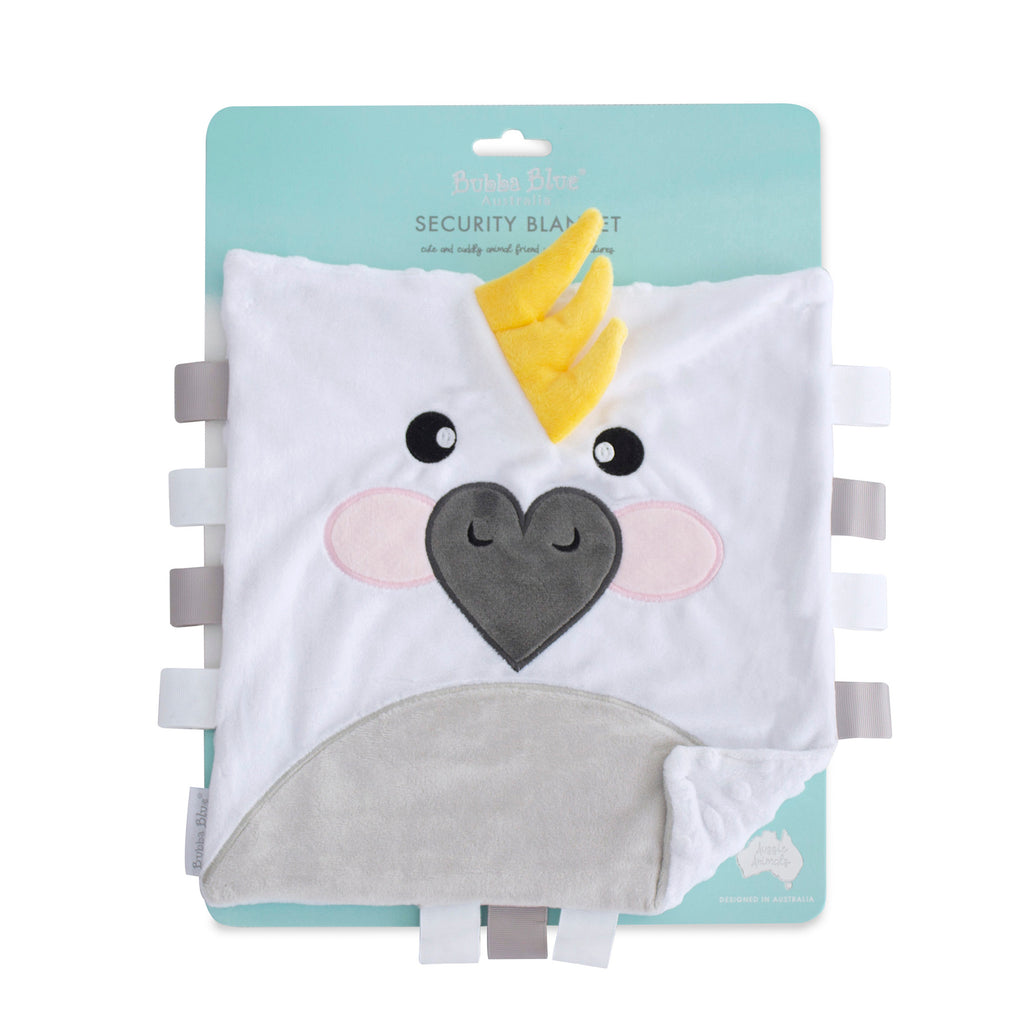 Aussie Animals Security Blanket - Cockatoo - Bubba Blue Australia