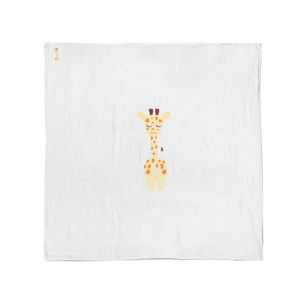 Zoo Animals Giraffe Muslin Wrap - Bubba Blue Australia