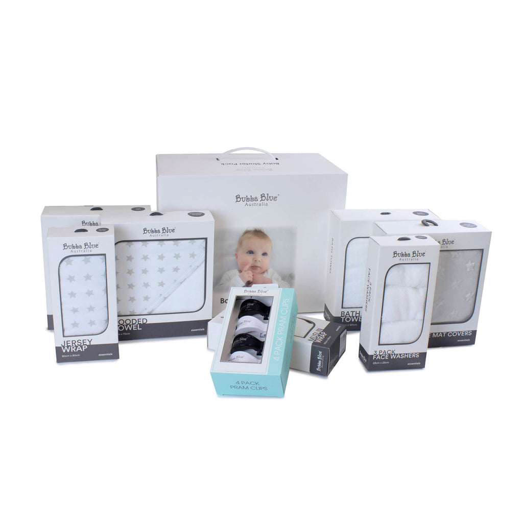 Everyday Essentials Baby Starter Pack Gift Box - Bubba Blue Australia