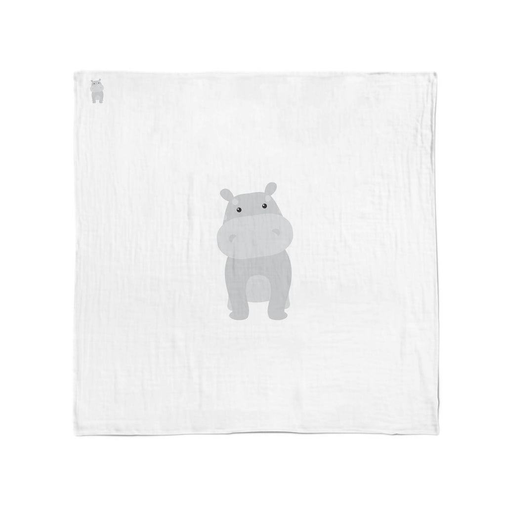 Zoo Animals Hippo Muslin Wrap